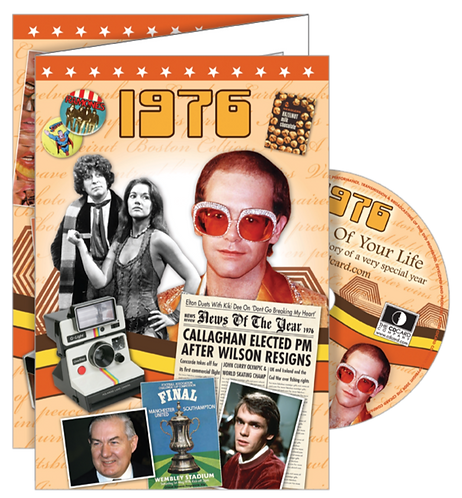 1976 The Time Of Your Life Greeting Card with DVD