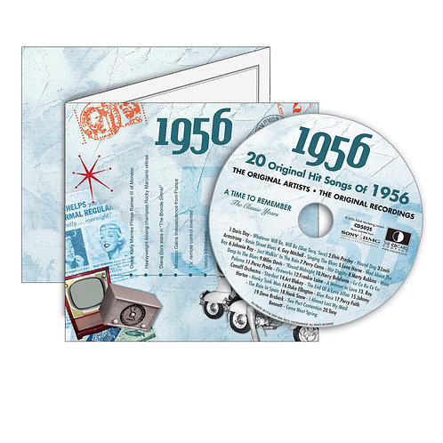 1956 Classic Years - Year Of Birth Music Downloads Greeting Card + Retro CD