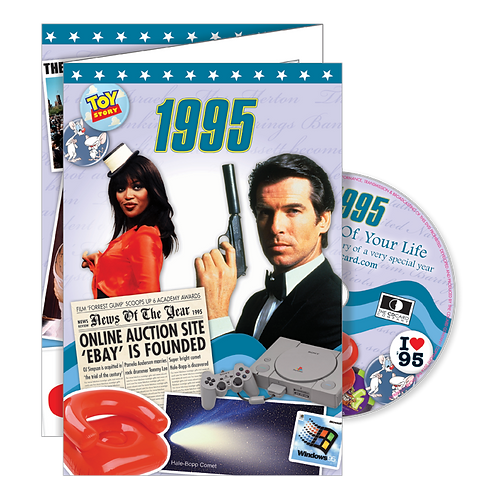 1995 The Time Of Your Life - Year Of Birth Greeting Card with DVD