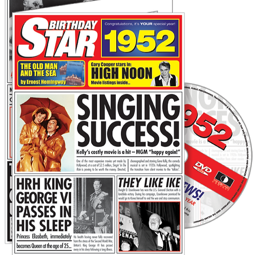1952 Birthday Star Greeting Card with DVD