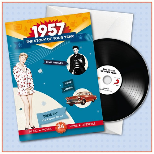1957 Booklet Card with CD and music download