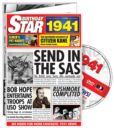 1941 Birthday Star Greeting Card with DVD
