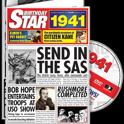 1941 Birthday Star Greeting Card with DVD