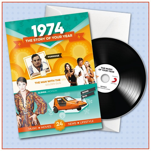 1974 Booklet Card with CD and music download