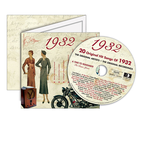 1932 Classic Years - Year Of Birth Music Downloads Greeting Card + Retro CD