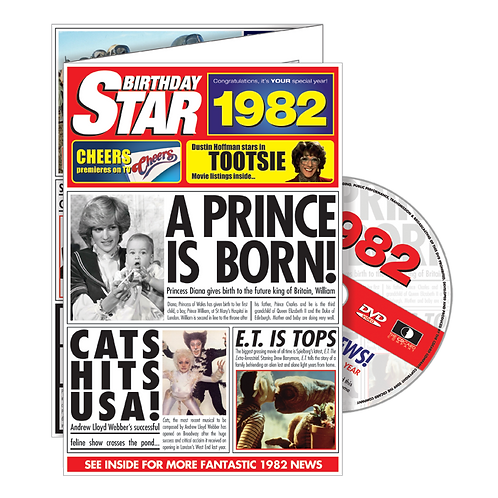 1982 Birthday Star - Year Of Birth Greeting Card with DVD