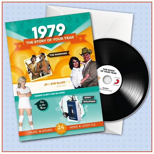 1979 Booklet Card with CD and music download