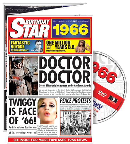 1966 Birthday Star Greeting Card with DVD