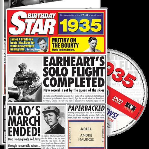 1935 Birthday Star Greeting Card with DVD
