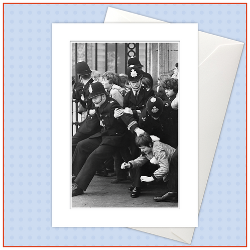 Beatlemania: Fans At Buckingham Palace