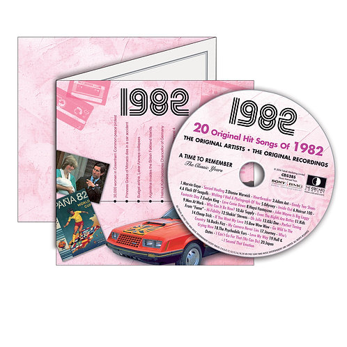1982 Classic Years - Year Of Birth Music Downloads Greeting Card + Retro CD