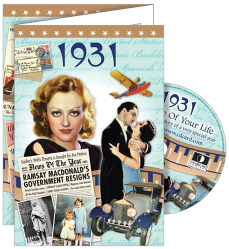 1931 The Time Of Your Life Greeting Card with DVD