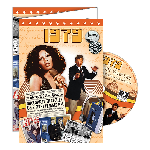 1979 Year Of Birth Greeting Card with DVD