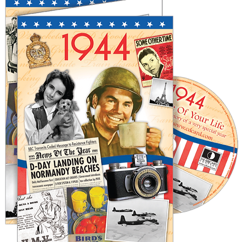 1944 The Time Of Your Life Greeting Card with DVD