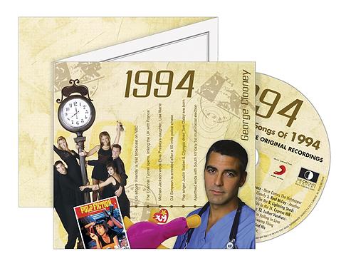 1994 Classic Years - Year Of Birth Music Downloads Greeting Card + Retro CD