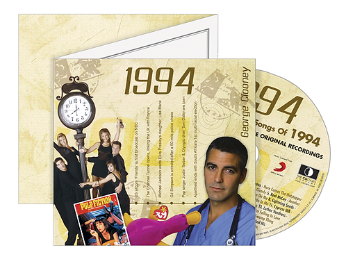 1994 Classic Years Greeting Card with Hit Songs, Download Code and retro CD