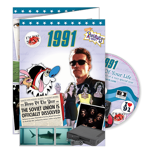 1991 The Time Of Your Life - Year Of Birth Greeting Card with DVD