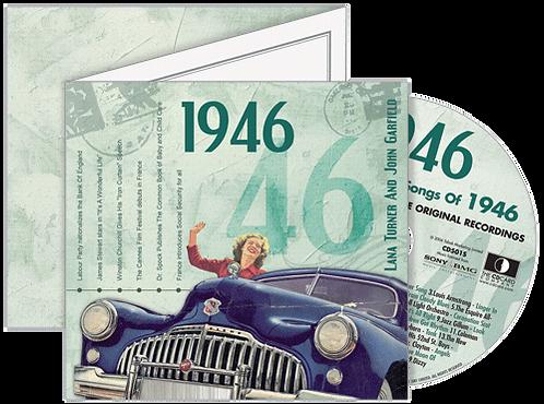 1946 Classic Years - Year Of Birth Music Downloads Greeting Card + Retro CD