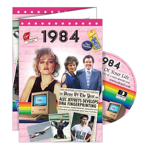 1984 Year Of Birth Greeting Card with DVD