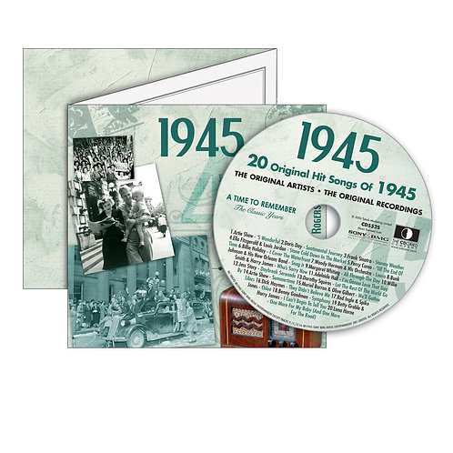 1945 Classic Years  - Year Of Birth Music Downloads Greeting Card + Retro CD
