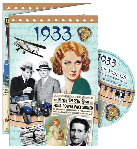 1933 The Time Of Your Life Greeting Card with DVD