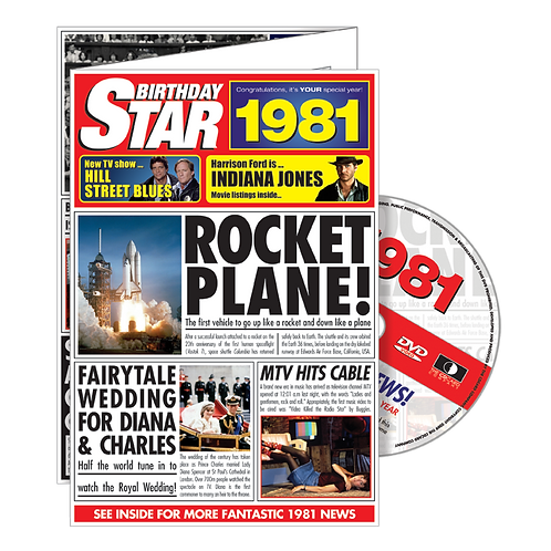 1981 Birthday Star Greeting Card with DVD