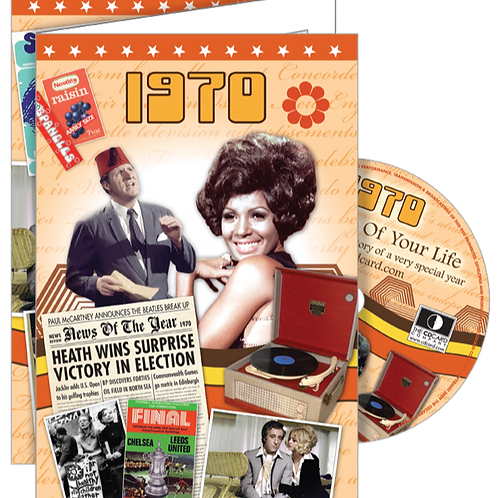1970 The Time Of Your Life Greeting Card with DVD