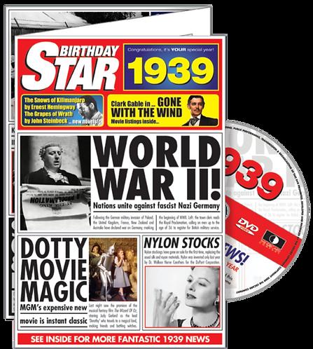 1939 Birthday Star Greeting Card with DVD