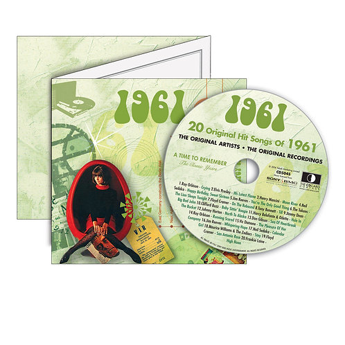 1961 Classic Years - Year Of Birth Music Downloads Greeting Card + Retro CD