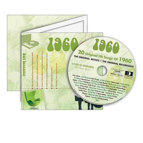 1960 Classic Years - Year Of Birth Music Downloads Greeting Card + Retro CD