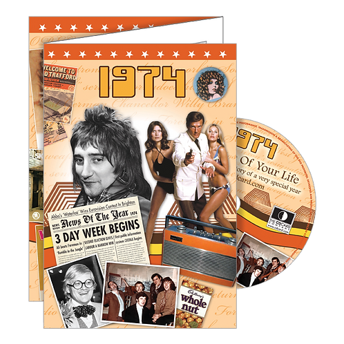 1974 Year Of Birth Greeting Card with DVD