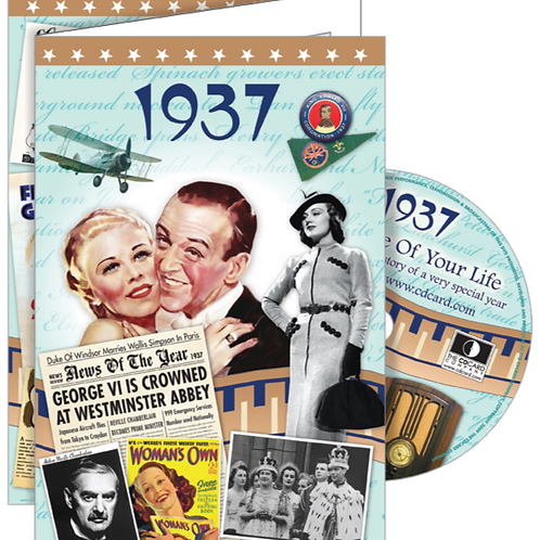 1937 The Time Of Your Life Greeting Card with DVD