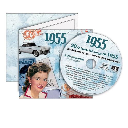 1955 Classic Years - Year Of Birth Music Downloads Greeting Card + Retro CD