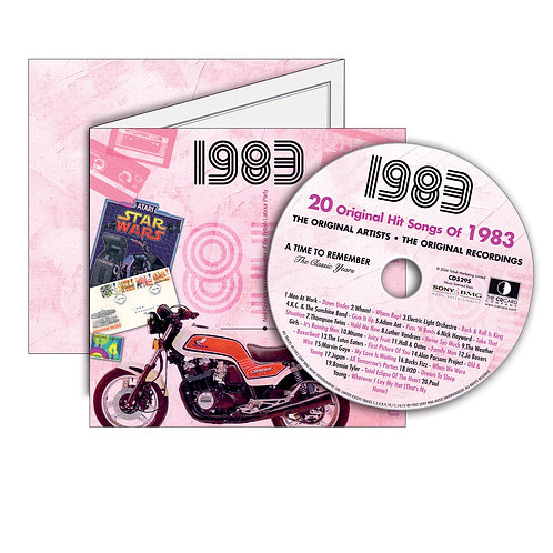1983 Classic Years - Year Of Birth Music Downloads Greeting Card + Retro CD