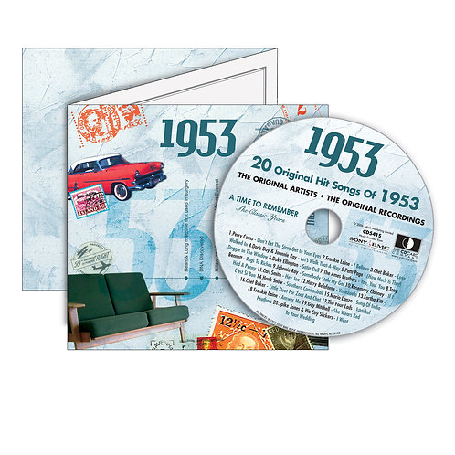 1953 Classic Years - Year Of Birth Music Downloads Greeting Card + Retro CD