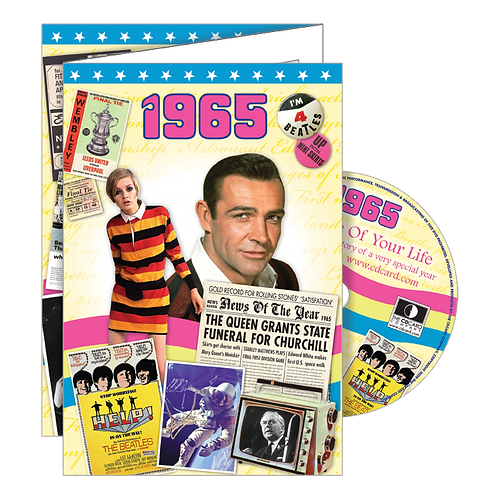 1965 Year Of Birth Greeting Card with DVD