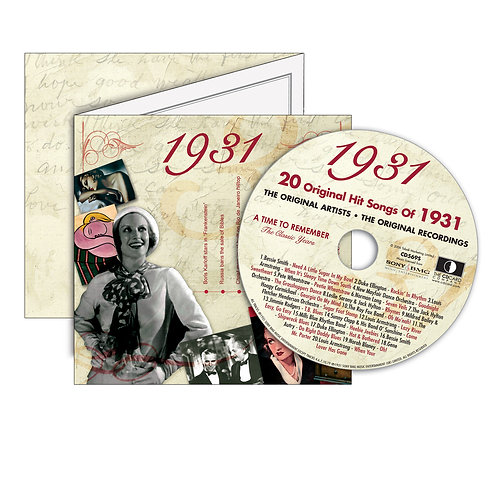 1931 Classic Years - Year Of Birth Music Downloads Greeting Card + Retro CD