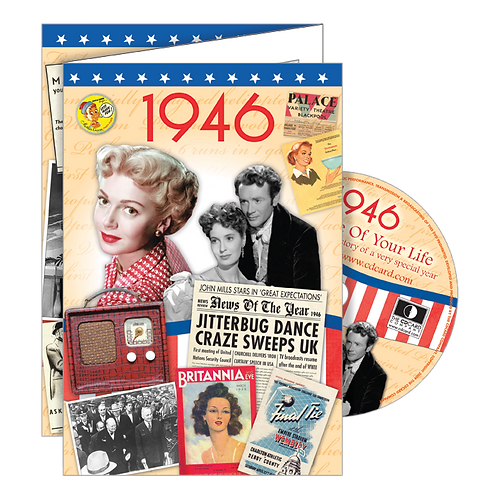 1946 Year Of Birth Greeting Card with DVD