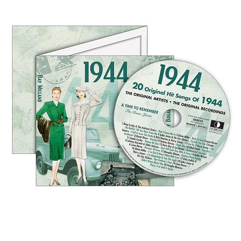 1944 Classic Years - Year Of Birth Music Downloads Greeting Card + Retro CD