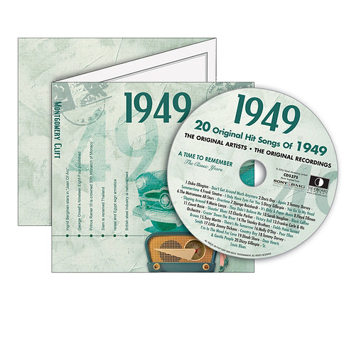 1949 Classic Years - Year Of Birth Music Downloads Greeting Card + Retro CD