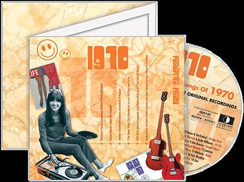 1970 Classic Years - Year Of Birth Music Downloads Greeting Card + Retro CD