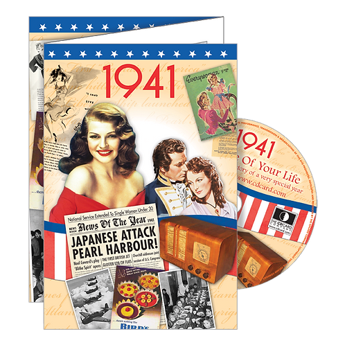 1941 Year Of Birth Greeting Card with DVD