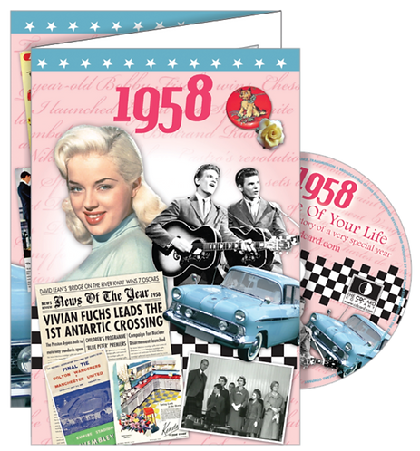 1958 The Time Of Your Life Greeting Card with DVD