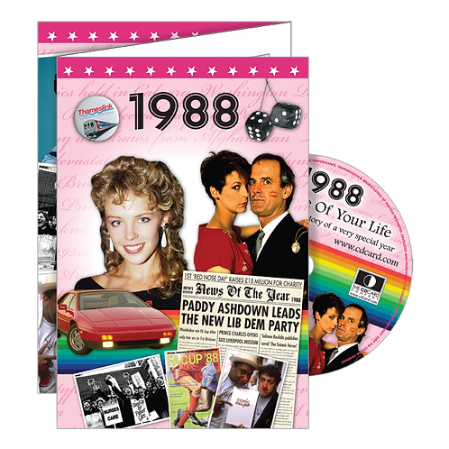 1988 Year Of Birth Greeting Card with DVD