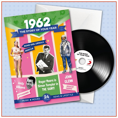 1962 Booklet Card with CD and music download