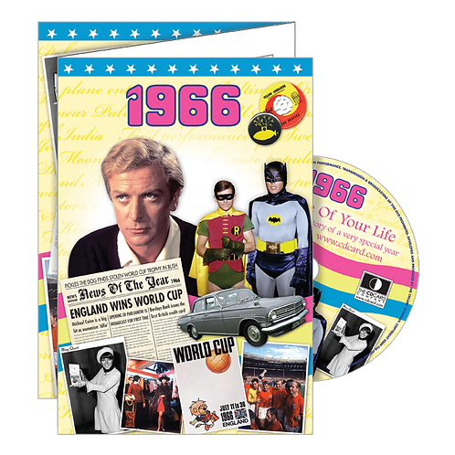 1966 Year Of Birth Greeting Card with DVD