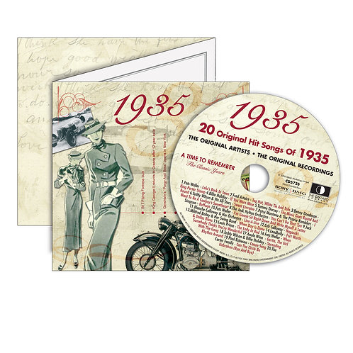 1935 Classic Years - Year Of Birth Music Downloads Greeting Card + Retro CD