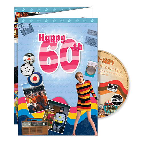 60th Birthday Greeting Card with DVD