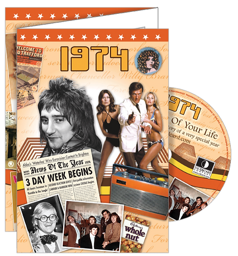 1974 The Time Of Your Life Greeting Card with DVD