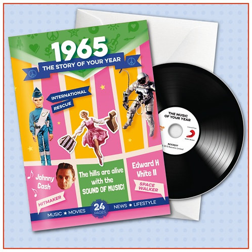 1965 Booklet Greeting Card with Hit Songs, Download Code and retro CD